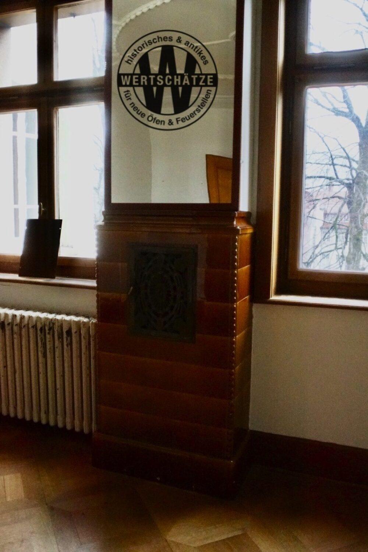 Art-Deco-Kachelofen braun Neu St.Johann