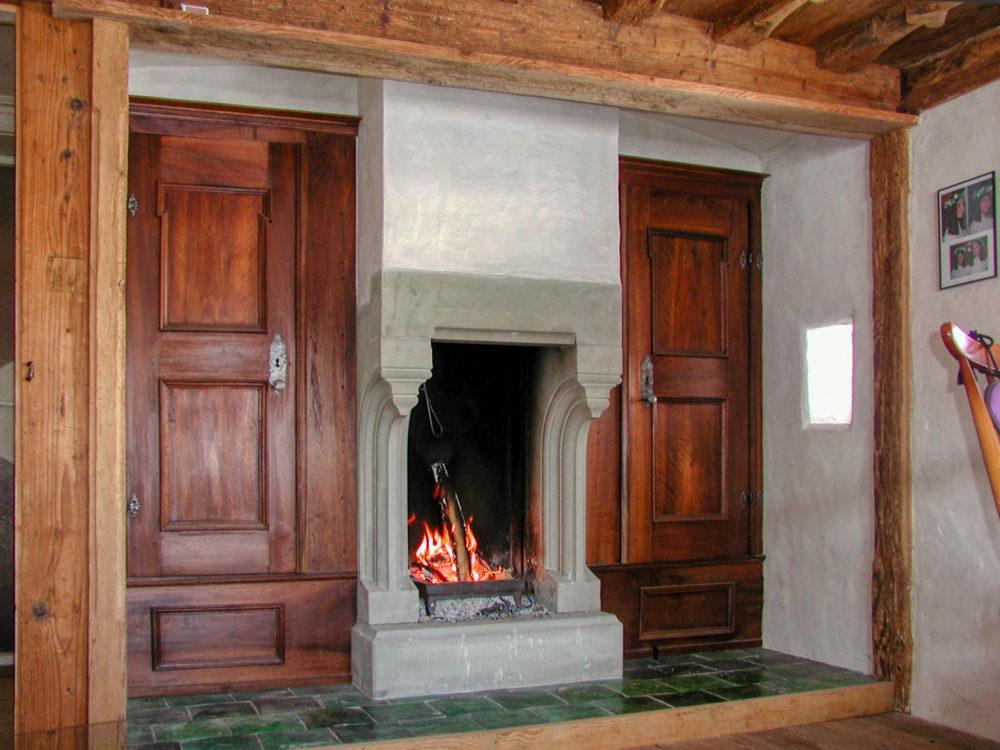 Gotische Feuerstelle in Nesslau
